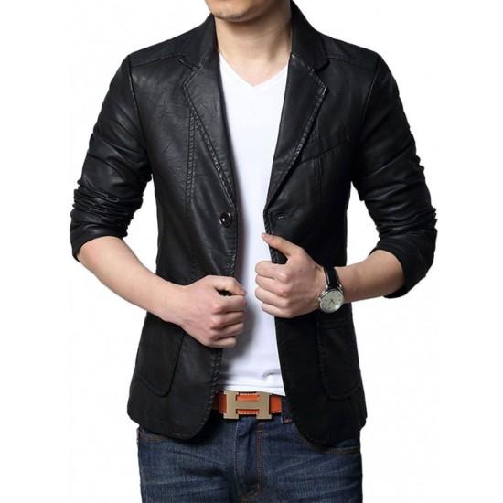 Adrien Brody The Third Person Sean Leather Blazer Jacket