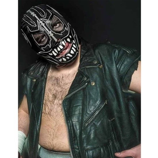 Evil Uno AEW Dynamite Leather Vest