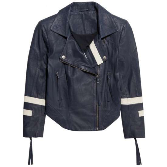 Agents of S.H.I.E.L.D. Chloe Bennet Blue Leather Jacket
