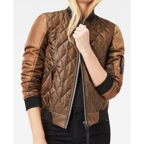 Agents of Shield Elizabeth Henstridge Quilted Jacket