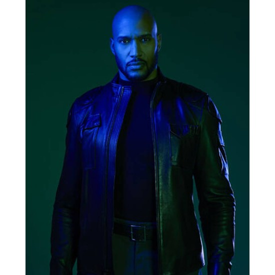 Agents of Shield Missing Pieces Henry Simmons Black Leather Jacket
