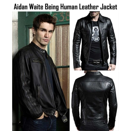 Aidan Waite Being Human Sam Witwer Leather Jacket