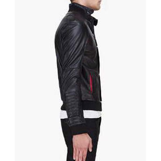 Champ Surface Kid Cudi Black Leather Jacket