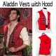 Aladdin Red Vest with Hood