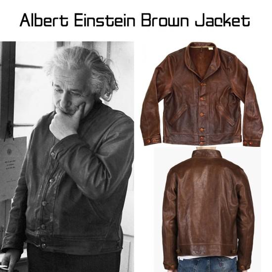 Albert Einstein Brown Jacket