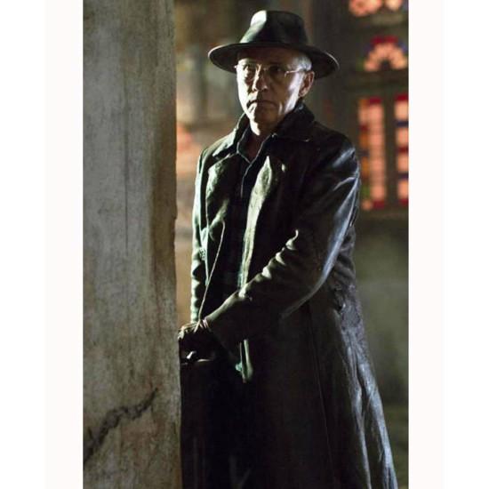Alita Battle Angel Dyson Ido Dark Brown Leather Coat