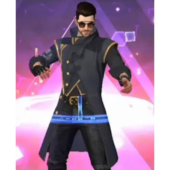 Alok Drop The Beat Free Fire Blue Coat