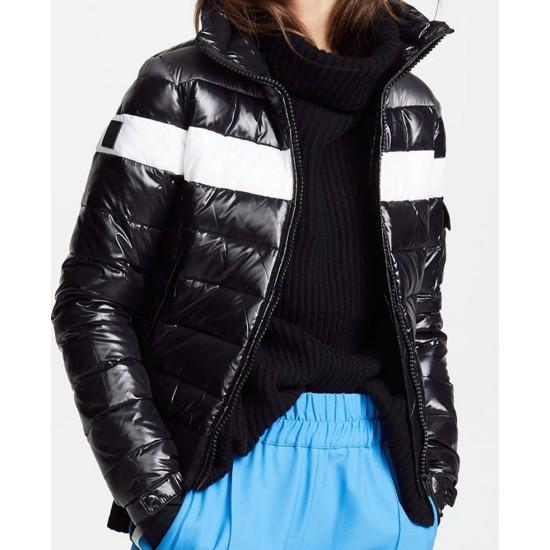Amanda Zhou Spinning Out Black Puffer Jacket