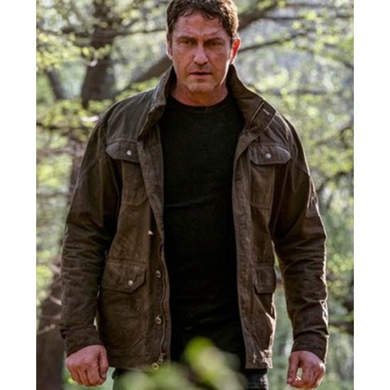 Angel Has Fallen Gerard Butler Green Jacket