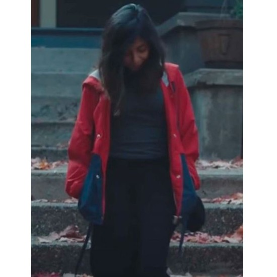 Anjini Taneja Azhar Young Hearts Red and Blue Jacket