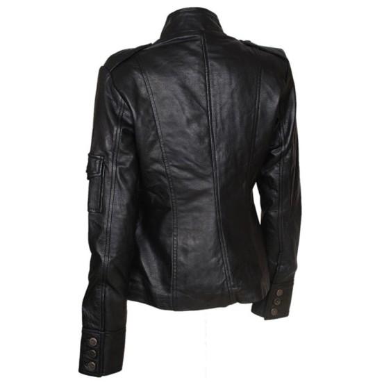 Anne Hathaway Get Smart Agent 99 Black Leather Jacket