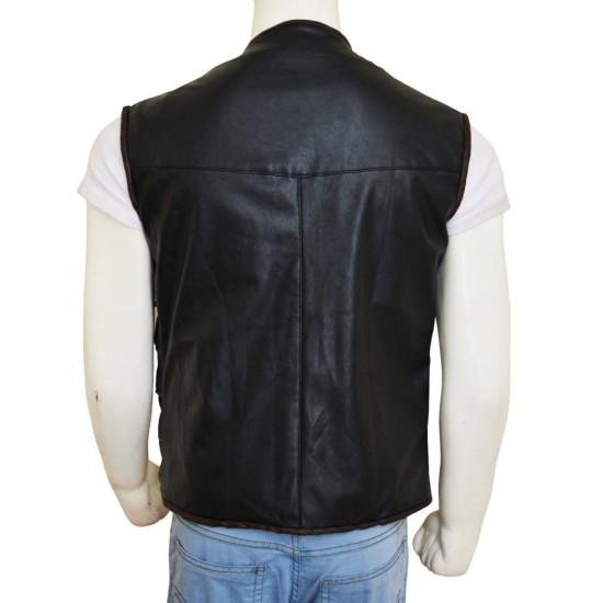 Anthony Lemke Dark Matter Three Leather Vest