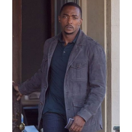 Anthony Mackie The Falcon and The Winter Soldier Suede Jacket