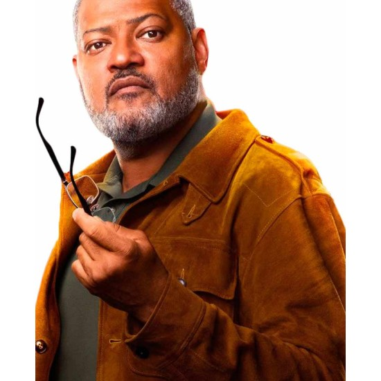 Antman And The Wasp Laurence Fishburne Suede Jacket