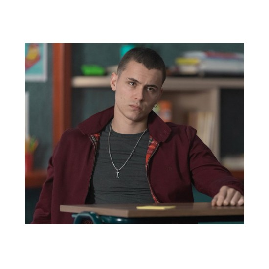 Aron Piper The Mess You Leave Behind Maroon Jacket
