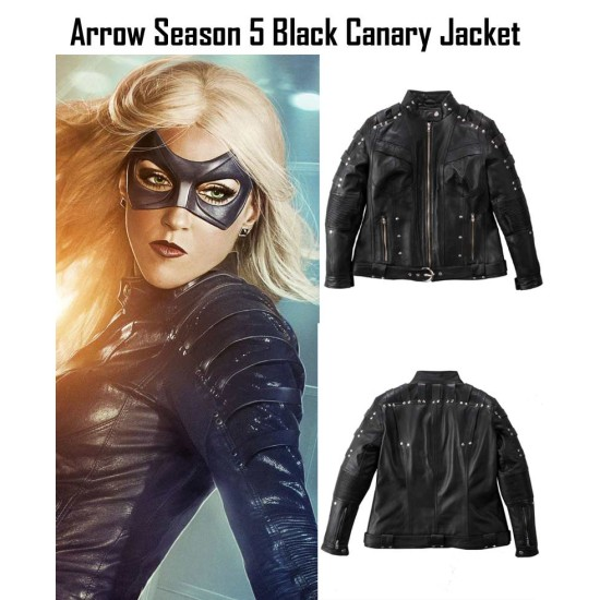 Dinah Laurel Lance Arrow Black Canary Leather Jacket