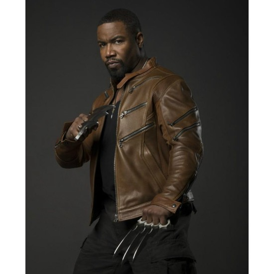Arrow TV Series Bronze Tiger Leather Jacket