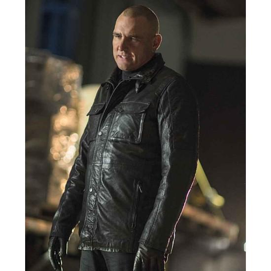 Arrow Danny Brickwell Black Leather Jacket