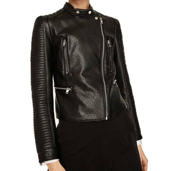 Arrow Dinah Drake Padded Leather Jacket