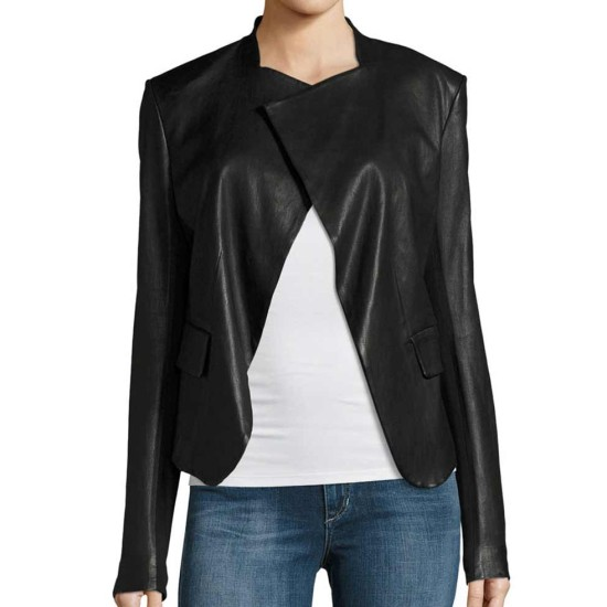 Arrow Dinah Drake Black Leather Jacket
