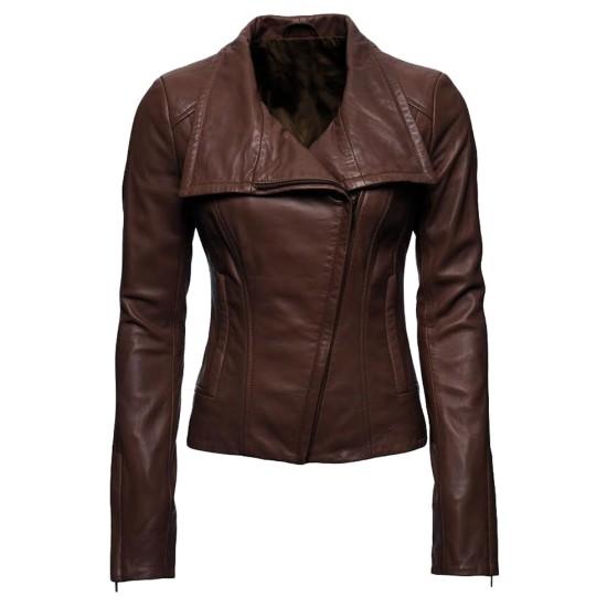 Arrow TV Series Lyla Michaels Brown Leather Jacket
