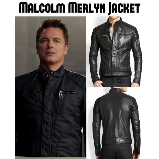 John Barrowman Arrow Malcolm Merlyn Leather Jacket