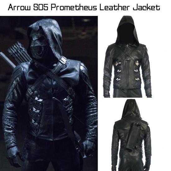 Arrow Season 5 Prometheus Leather Jacket