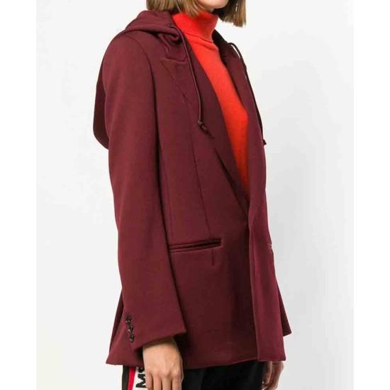 Arrow Ruby Rose Red Blazer Hooded