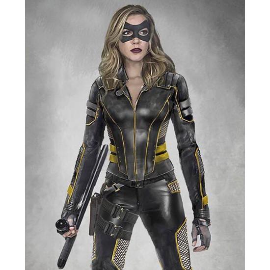 Arrow S08 Black Canary Leather Jacket