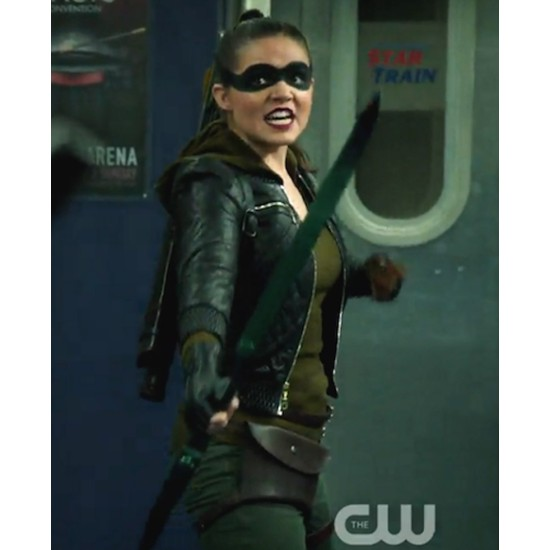 Arrow S08 Madison Mclaughlin Black Leather Jacket
