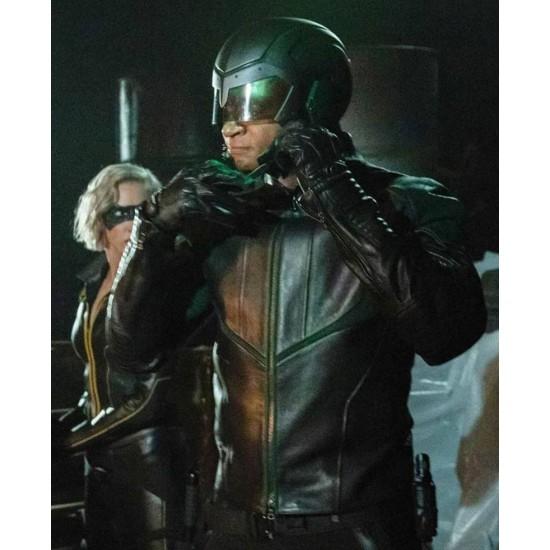 Arrow S08 Spartan Green Leather Jacket