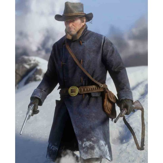 Arthur Morgan Red Dead Redemption 2 Blue Trench Coat