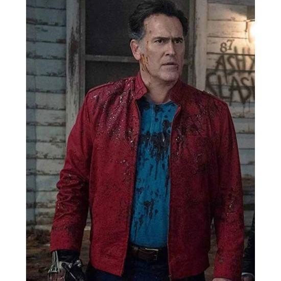 Bruce Campbell Ash Vs Evil Dead Red Jacket