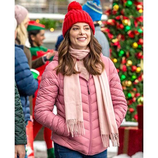 Ashley Greene Christmas on My Mind Puffer Jacket
