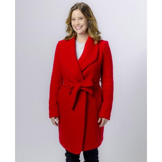 Ashley Williams Christmas In Evergreen Wool Coat