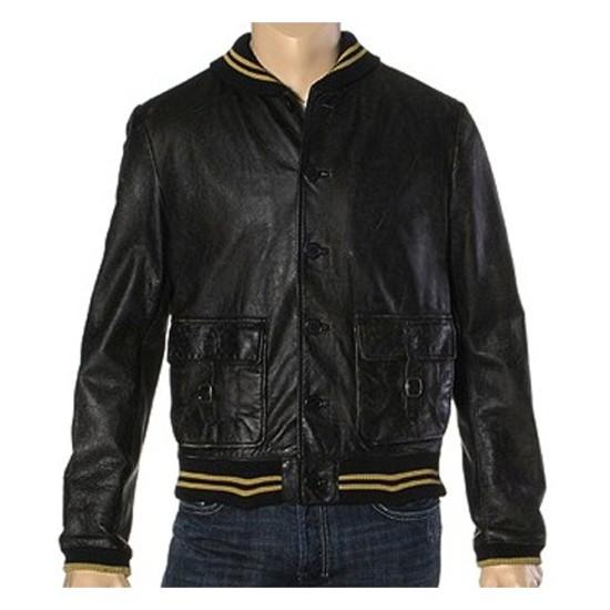 Ashton Kutcher Spread Movie Nikki Leather Jacket