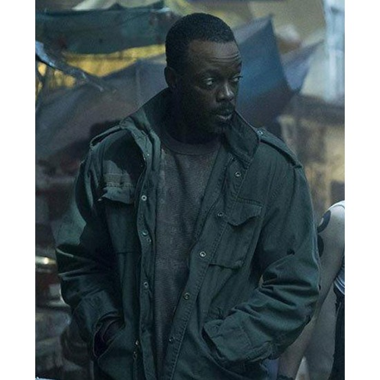 Ato Essandoh Altered Carbon Military Green Jacket