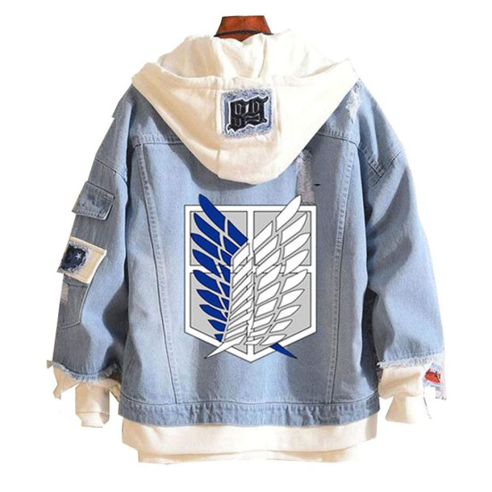 Attack on Titan Denim Hooded Jacket