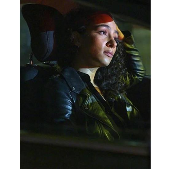 Aurora Perrineau Prodigal Son Leather Jacket