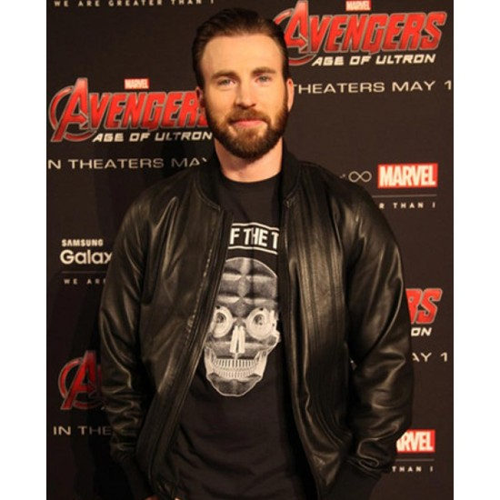 Avengers Age of Ultron Premiere Chris Evans Leather Jacket