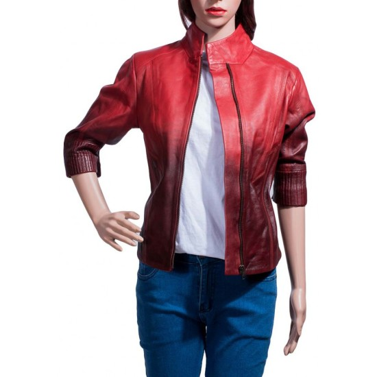 Avengers Age of Ultron Movie Scarlet Witch Leather Jacket