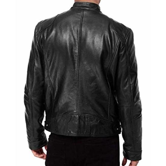 Chris Evans Avengers Endgame Black Leather Jacket