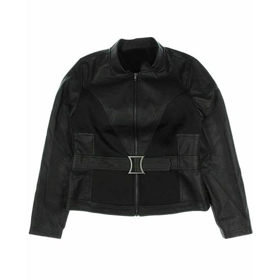 Avengers Endgame Natasha Romanoff Belted Leather Jacket