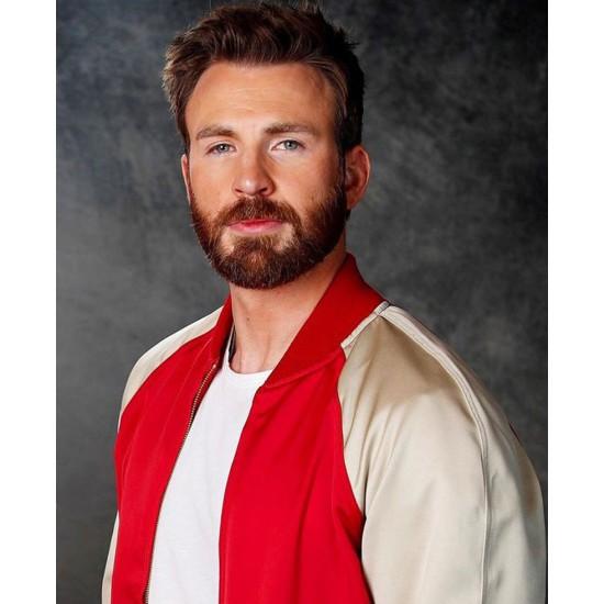 Avengers Endgame Premiere Chris Evans Satin Jacket