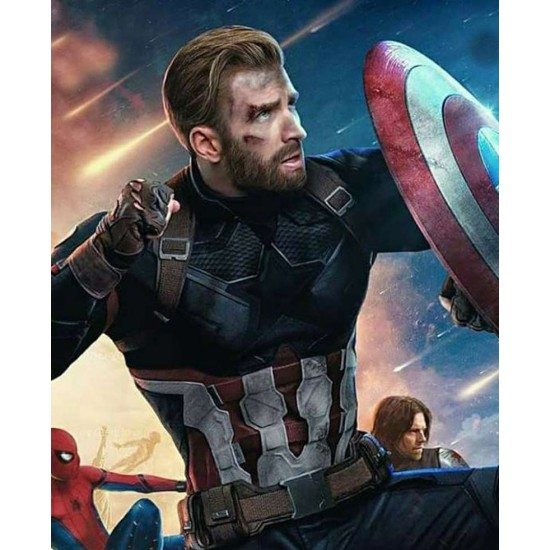 Captain America Infinity War Leather Jacket