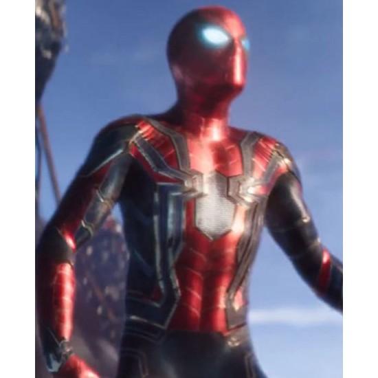 Avengers Infinity War Spiderman Leather Jacket