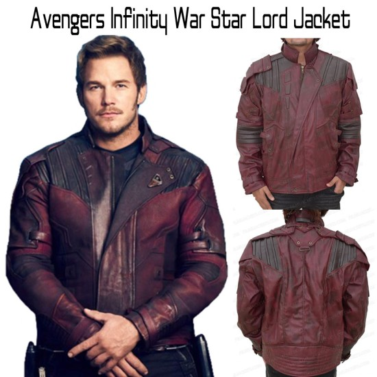 Avengers Infinity War Star Lord Leather Jacket