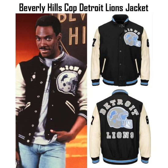 Axel Foley Beverly Hills Cop Movie Detroit Lions Jacket