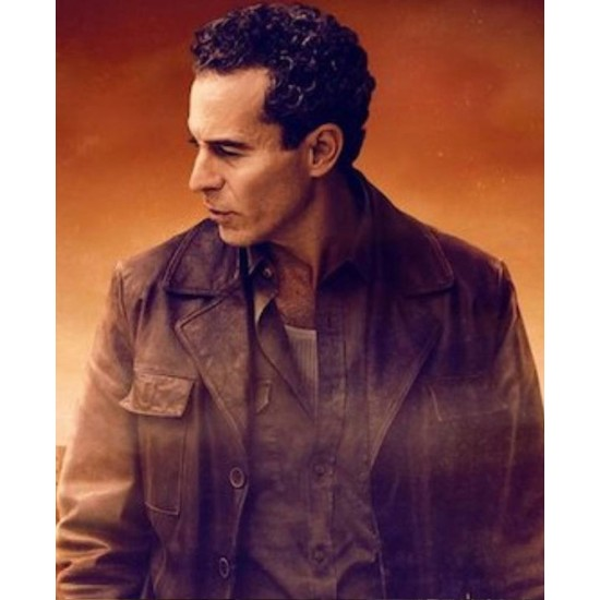 Baghdad Central Waleed Zuaiter Brown Leather Jacket