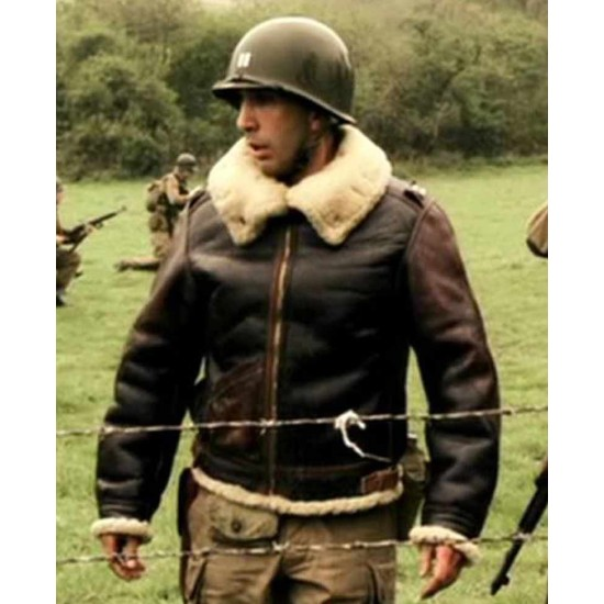 Band of Brothers David Schwimmer Shearling Leather Jacket
